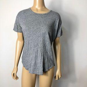 Madewell women's gray cotton short sleeve t-shirt